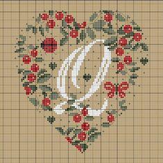 Hearts Alphabet v Cross Stitch Heart, Cross Stitch Alphabet, Cross Stitch Samplers, Cross Stitching, Cross Stitch Embroidery, Embroidery Alphabet, Embroidery Patterns, Cross Stitch Designs, Cross Stitch Patterns