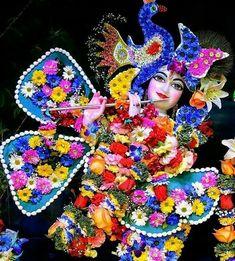 "yogini vrindavan 🙏 on Instagram: ""Hare Krishna 🙏 #harekrishna god bless you devotees 💕🎊✋✋✋"" Krishna Radha, Deities, Birthday Candles, Christmas Ornaments, Holiday Decor, Painting, God, Dios, Christmas Jewelry"