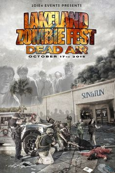 Poster for zombiefest, I'm on the ground crawling to meet my maker...again.