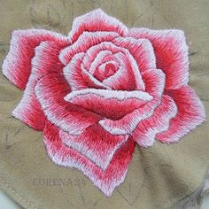Haft cieniowany, - Kuferek Loreny - Moje małe hafciki Machine Embroidery Patterns, Embroidery Stitches, Hand Embroidery, Embroidery Designs, Filet Crochet, Long And Short Stitch, Playroom Decor, Fabric Painting, Needle And Thread