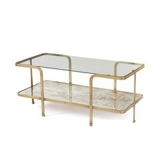 Fun design meets gorgeous finishes with the Mirrored Glass Coffee Table.