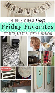 Friday Favorites is my chance to share some of the things I am crushing on at the moment, anything from rooms to recipes, from outfits to the outdoors. I hope that you will enjoy the posts!
