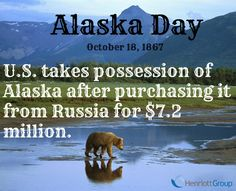 Fun Fact Friday: For a mere 2 cents per acre, US Secretary of State, William H Seward, purchased our LARGEST state, Alaska, on this day in 1867! What a deal! #FunFact #Alaska