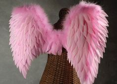 VS angel costume idea. I would spice these up with glitter galore and who knows what else.