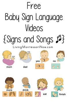 Baby Sign Language Videos {Signs and Songs} Fun, free baby sign language videos; sign language signs and songs - Living Montessori NowFun, free baby sign language videos; sign language signs and songs - Living Montessori Now Baby Sign Language Video, Sign Language Songs, Sign Language For Toddlers, Simple Sign Language, Sign Language Interpreter, British Sign Language, Language Activities, Infant Activities, Learn Sign Language Free