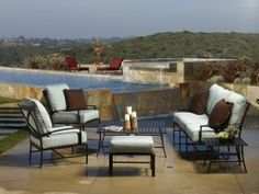 Sunset West seating is ample and comfortable. We recommend the La Jolla collection for your contemporary or transitional outdoor space.