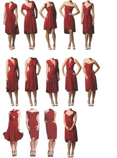 Knee Length Convertible Dress by sixtwentyfour on Etsy