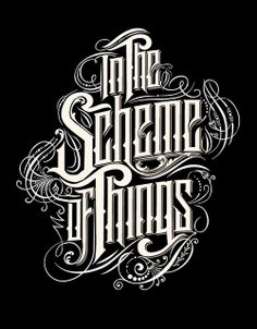 pinterest.com/fra411 #typography #lettering SCHEME OF THINGS by Like Minded Studio