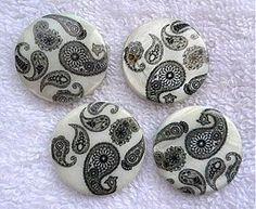 Korálky - Perleť.placka 25mm-1ks - 3106776