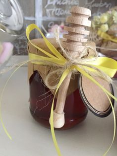 Bomboniera miele e spargimiele #bomboniera #matrimonio #giallo #shabby #rustico