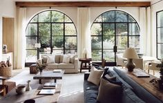 Love the windows and the couch. Love this whole room