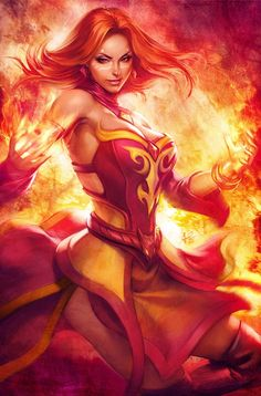 Fire sorceress