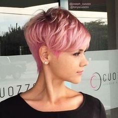 10 Trendy Daring Pixie Haircuts, Hairstyle and Color for Daring new trendy pixie haircuts in 2018 we will be looking at in this post. Let's find a newly minted short haircuts of 2018 that guaranteed to kno. Pixie Haircuts, Hairstyles Haircuts, Short Hair Trends, Short Hair Styles, Pixie Cut Shaved Sides, Global Hair, Copper Hair, Short Pixie, Great Hair