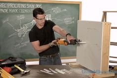 From our Tool School series: Reciprocating Saw 101 with pro tips on avoiding disaster when plunge-cutting into a wall. | thisoldhouse.com