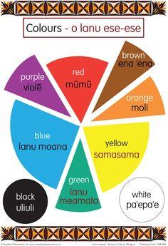 Colours Samoan Bilingual Chart   Pasifika Resources
