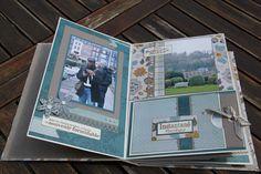 Merci Gaëlle pour ce beau projet... j'adore la structure de cet album ! Les 40 photos de notre petite escapade à Honfleur, l'automne dernier, allaient très bien avec les couleurs des papiers. Si le projet vous plaît, n'hésitez pas à aller faire un tour...