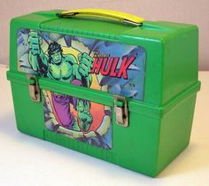 Vintage The Incredible Hulk Dome Style Plastic Lunch Box by Aladdin 1980 | eBay