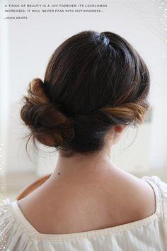 She Lets Her Hair Down: Tutorial :: Wedding Chignon