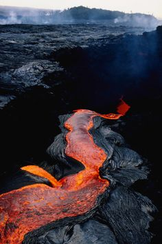 River of lava--This must be what the River Styx looks like.