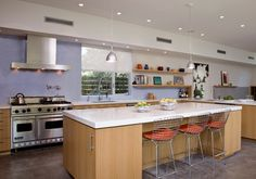 Harris Residence - Contemporary - Kitchen - Los Angeles - Nicholas/Budd Architects, LLP