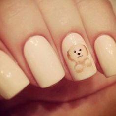 Puppy dog nail art. #nails #manicure #nailart