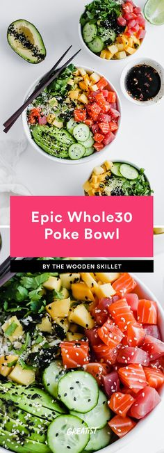 Whole 30 Recipes That Taste Better in a Bowl - . - 11 whole 30 recipes that taste better in one bowl – Whole 30 Recipes That Taste Better in a Bowl - . - 11 whole 30 recipes that taste better in one bowl – Seafood Recipes, Paleo Recipes, Whole Food Recipes, Budget Recipes, Clean Eating Snacks, Healthy Eating, Healthy Foods, Mackerel Recipes, Recipe 30