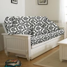 Cottage Solid Wood Futon by Lifestyle Solutions