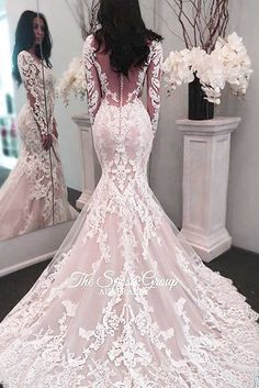 18 Luxurious Pink Wedding Dress Designs A pink wedding dress is a great way to show your creativity and step aside from a traditional white dress. Of course, there are more dramatic options if you want to stand out, like gothic gowns. But these pink dresses are so adorable! http://glaminati.com/pink-wedding-dress/
