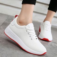 8f1143b6b99211 Comfortable women sneakers air mesh spring autumn shoes solid  black white pink female shoes zapatillas mujer plus size 34-40