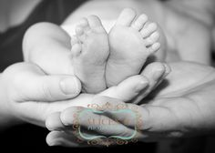 Newborn Feeties, Mommy & Daddys Hands together... Newborn Photography