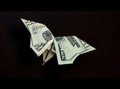 ▶ Origami Dollar Butterfly How to make a Dollar Butterfly - YouTube