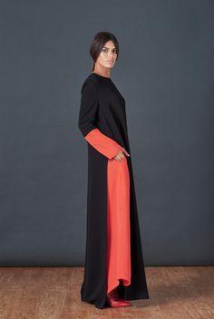 BOUGUESSA F/W15-16 Collection - Single Side Opening Viscose Abaya