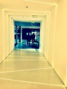 Very cool LED installation. LED lights at Seznam.cz office in Prague