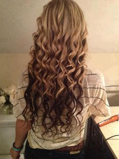 Perfectly curly hair