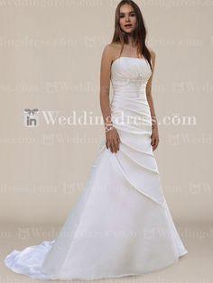 Strapless Trumpet Satin Corset Wedding Dress BC513 New