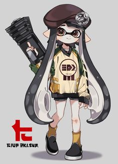 "まこ on Twitter: ""おちばシューター… "" Splatoon 2 Game, Splatoon Comics, Character Concept, Character Design, Cute Characters, Looks Cool, Cute Art, Animal Crossing, Anime Art"