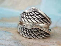 Angel Wing Jewelry Angel Wing Ring Silver Angel by HappyGoLicky, $58.00