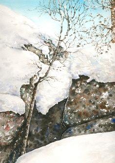 Jäätynyt-Akvarelli