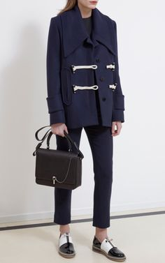 Caban Wool Nautical Toggle Coat by Carven for Preorder on Moda Operandi