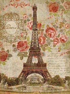 Paris illustration vintage