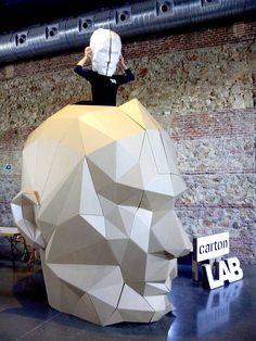 Cardboard head by CartonLab. Zincshower 2014 #cardboard