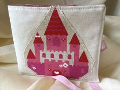 Needle case with fairytale princess castle appliqué by on Etsy Applique, Princess Castle, Needle Case, Fairytale, Burlap, Reusable Tote Bags, Embroidery, Sewing, Fabric