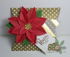 Square Pillow Box Thinlit, Reason for the Season stamp set and Festive Flower Builder Punch from Stampin' Up!