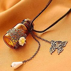 Give a Wish as a Gift, Magic Bottle Pendant good for holding Wishes Spells and Love Potions!