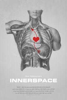 Poster for Innerspace by Scott Saslow. #joedante #innerspace #dennisquaid #martinshort #megryan #robertpicardo #kevinmccarthy #stevenspielberg #sciencefiction #comedy #movieposter #graphicdesign #posterdesign #fanart #alternativefilmposter #alternativemovieposter