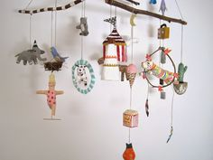 A fabulous collection of Jikits amazing handmade mobiles available at Bon Fortune Boutique www.bonfortune.com for details