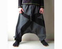 Twill Winter Harem Pants - Aladdin Trousers - Afghani Pants - Alibaba Pants - Men - Women - Cotton. $53.00, via Etsy.