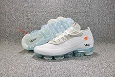 cc55f34fb881ec Men s Womens s Off-White x Nike Air VaporMax Running Shoes White Blue