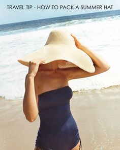 Summer Style : beach style navy suit one piece big hat Looks Street Style, Looks Style, Style Me, Surf Style, Navy Style, Josie Loves, Look Fashion, Womens Fashion, Sombreros De Playa