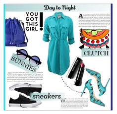 """""""Day to night -shirt dress #1"""" by dolly-valkyrie ❤ liked on Polyvore"""